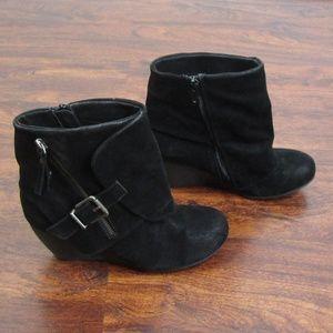 aef44997315 Blowfish Shoes - Blowfish Malibu Black Wedge Ankle Booties Buckles